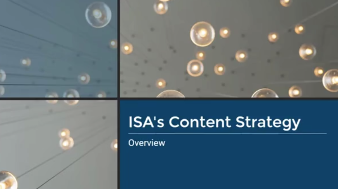 ISA's Content Strategy